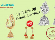 Get up to 83% off on jhumki earrings