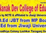 Get admission in b.ed/ jbtfrom haryana & mp