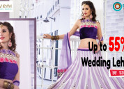 Get up to 55% off wedding lehengas