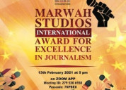 Marwah studios will present international award in