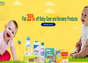 Up to flat  35% off baby gear and nursery products