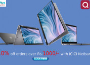 Flat 10% off orders over rs.1000 with icici netban