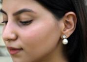 Buy pearl drop earrings online in india at ornate