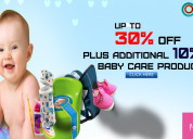 Up to 30% off plus additional 10% off baby care
