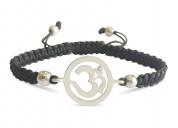 Aum charm silver bracelet for girls