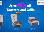 Get up to flat 45% off toasters and grills