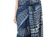 Good quality indigo print sarees manufacturer