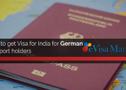 How to get a visa to india for german passport hol