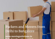 Packers and movers from delhi to bangalore
