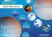 Iso certified transcription service company in ind