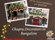 Chapra decorators in bangalore
