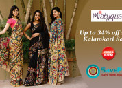 Mistyque coupons & offers: up to 34% off sarees