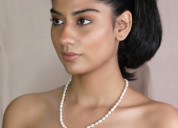 Buy best quality long pearl necklace online