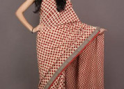 Classy and pretty bagru print sarees manufacturer