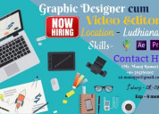 Graphic designer cum video editor