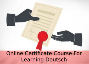 Best online certificate course for learning german