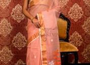 Latest muslin jamdani sarees at a wholesale price