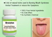 Buy herbal product for burning mouth syndrome