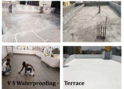 Roof water leakage waterproofing