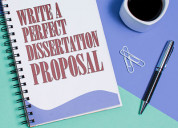 Write a perfect dissertation proposal