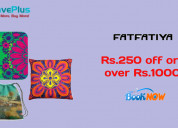 Rs.250 off orders over rs.1000