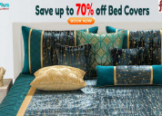 Save up to 70% off bed covers