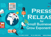 Press release for small businesses to grow exponen