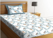 Get flower print bed sheets at minimal prices
