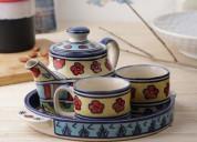 Shop ceramic kettle teapot set in mumbai
