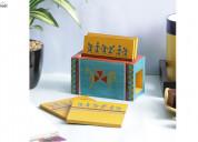 Shop wooden coasters set online in delhi