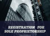 Service of registration for sole proprietorship in