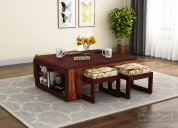 Buy wood tables online from wooden street