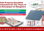 Toi bangalore property classified ad booking