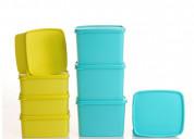 Tupperware cool n fresh container 490ml, 800ml 4 p