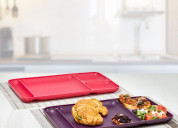Tupperware divided dining plate 2pc