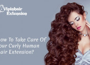 How to take care of your curly human hair extensio