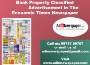 Property ad rates for the economic times