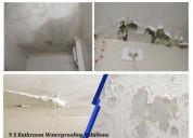 Bathroom water leakage waterproofing