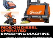 Diesel operated sweeping machine