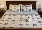 Buy this cotton quilt online from woodenstreet