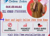 Home based data entry jobs full time / part time