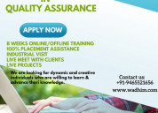 Industrial training in quality assurance in mohali