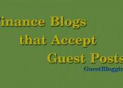 Finance blogs that accept guest posts