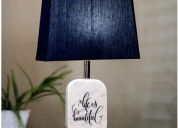 Get beautiful shapes of marble desk lamp