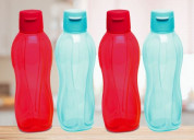 Tupperware aquasafe fliptop bottle 750ml 4pc