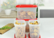 Tupperware oval dry storage containers 1.1l 4pc