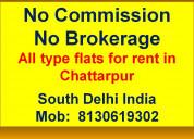 1bhk 2bhk 3bhk 4bhk flat on rent in chattarpur