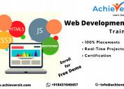 Best web development training course in bangalore