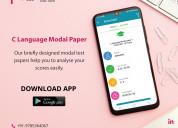 "C"" language model test paper & classes**"