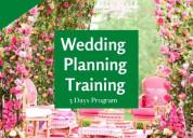 Three days wedding planning training